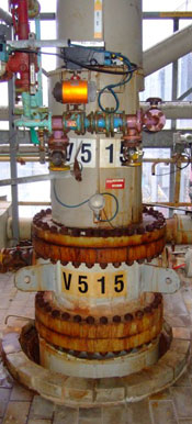 photo of used tantalum packed distillation column for sale